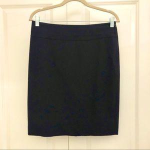 The Limited dark navy pencil skirt